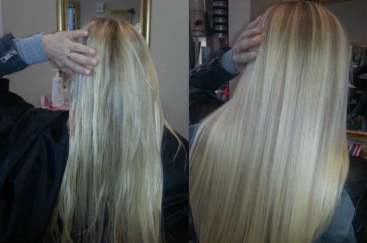 Haarglättung2